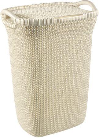 Curver koš za perilo Knit, 57 l, krem