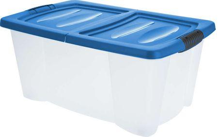 KAISERHOFF Úložný plastový box s víkem 39 l modrá
