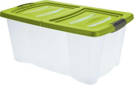 KAISERHOFF Úložný plastový box s víkem 39 l zelená
