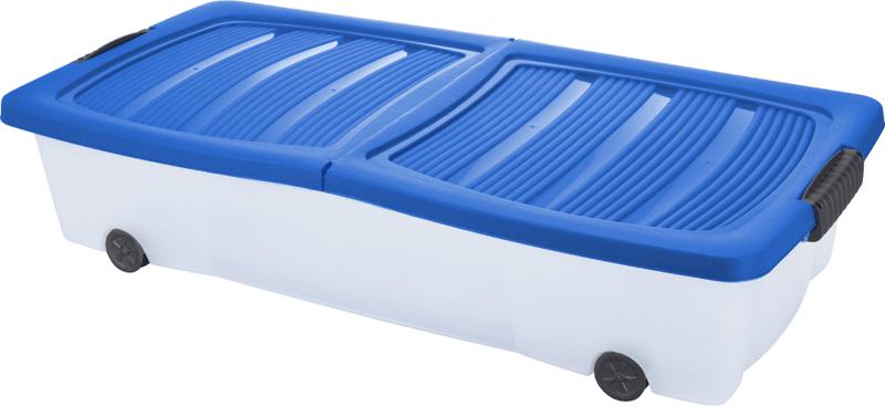 KAISERHOFF Pojízdný úložný box s víkem 32 l modrá