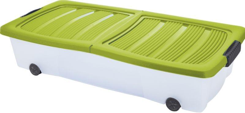 KAISERHOFF Pojízdný úložný box s víkem 32 l zelená