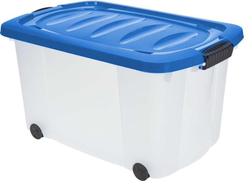KAISERHOFF Pojízdný úložný box s víkem 60l (KO-890274), modrá