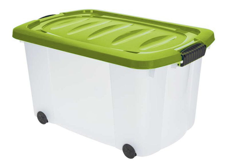 KAISERHOFF Pojízdný úložný box s víkem 45 l (KO-890266), zelená