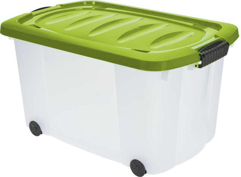 KAISERHOFF Pojízdný úložný box s víkem 60l (KO-890274), zelená