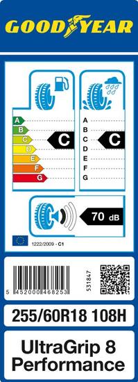 Goodyear auto guma UltraGrip 8 Performance 255/60R18 108H MS AO FP