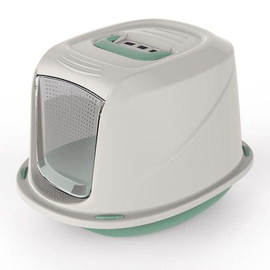 Argi Krytá toaleta s filtrem a rukojetí zelená 45 x 36 x 31,5 cm