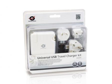 Conceptronic univerzalni USB napajalnik za popotnike