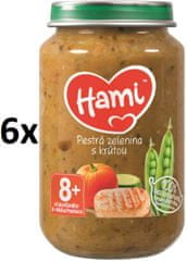 Hami Pestrá zelenina s morkou - 6 x 200g