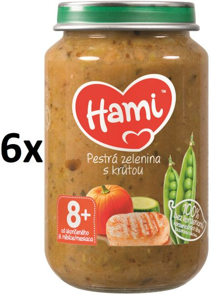 Hami Pestrá zelenina s krůtou - 6 x 200g