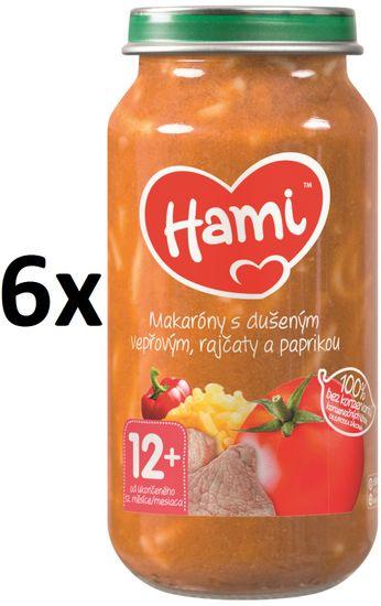 Hami Makaróny s dušeným vepřovým, rajčaty a paprikou - 6 x 250g