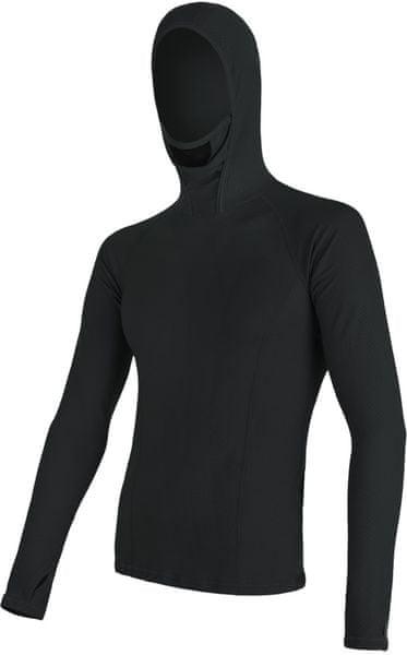 Sensor Double Face Merino Wool pánské triko dl.ruk. s kapucí Černá XL