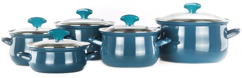 Belis Blue Line sada smaltovaného nádobí 10ks