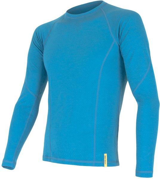 Sensor Double Face Merino Wool pánské triko dl.ruk. Modrá S