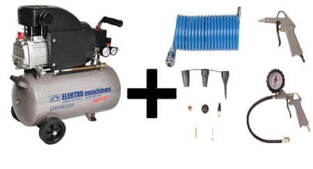 REM POWER batni kompresor E 241/8/24 Limited Edition + 11 delni pnevmatski set