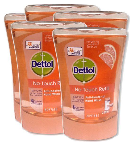 Dettol Náplň do dávkovače mýdla Grapefruit 5x 250 ml