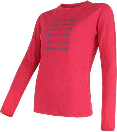Sensor Koszulka Merino Wool Arrows Magenta M