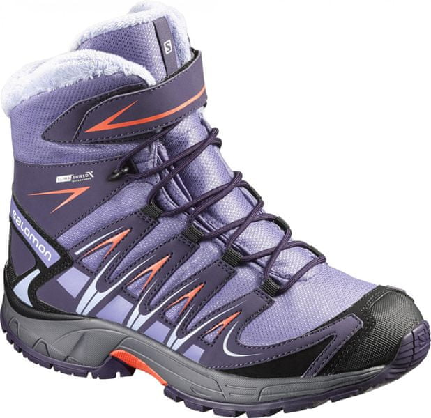 Salomon Xa Pro 3D Winter Ts Cswp J Grey/Grey/Coral Punch 31