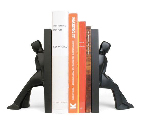 Kikkerland Zarážky na knihy Sedící můž 2 ks