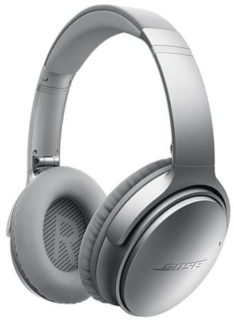 BOSE QuietComfort 35 Vezetéknélküli aktív zajszűrős fejhallgató, Ezüst