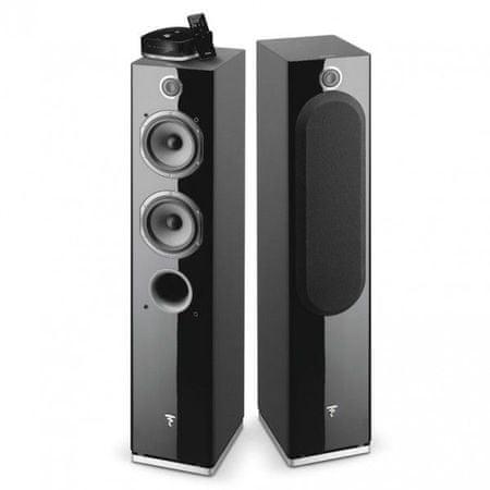 Focal par brezžičnih Hi-Fi zvočnikov Easya, svetleče črni