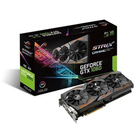 Asus grafična kartica GTX 1060, 6GB GDDR5, PCI-E 3.0 (STRIX-GTX1060-O6G-GAMING)