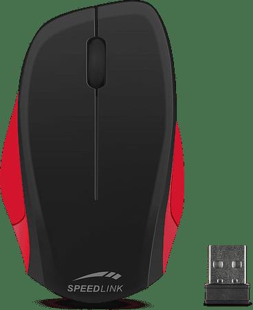 Speedlink brezžična miška Ledgy, črno/rdeča