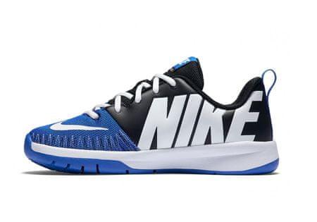 Nike športni copati Team Hustle D 7 Low GS Jr, otroški, črno-modri, 37,5