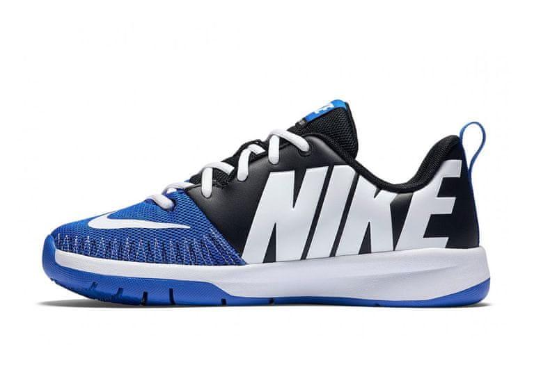 Nike Team Hustle D 7 Low GS Jr Black/White/Game Royal 36