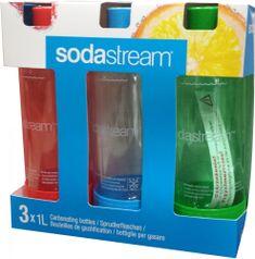 Sodastream zestaw butelek GREEN/RED/BLUE