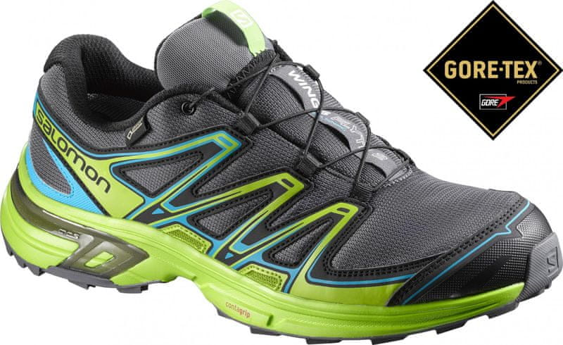 Salomon Wings Flyte 2 Gtx Dark Cloud/Green/Scuba Blue 44.0