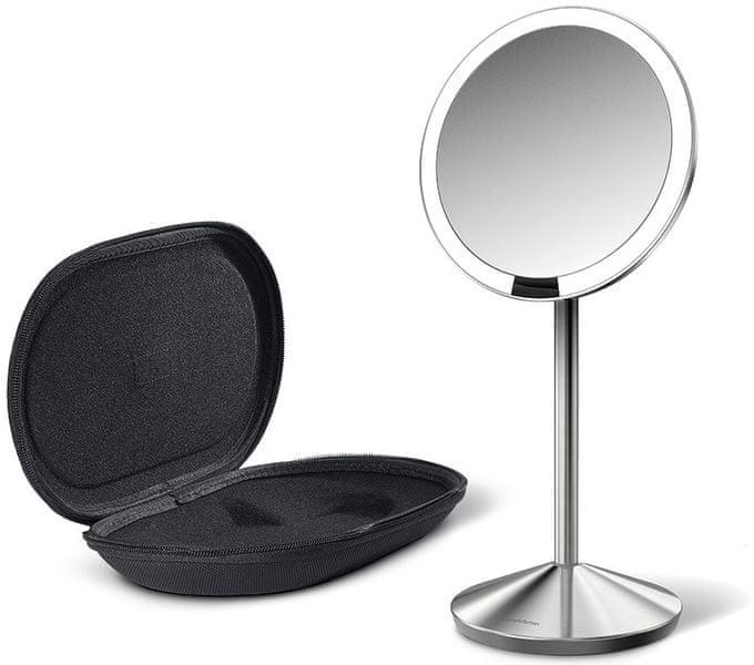 Simplehuman Senzorické kosmetické zrcátko cestovní s Tru-lux LED osvětlením, 10x zvětšení