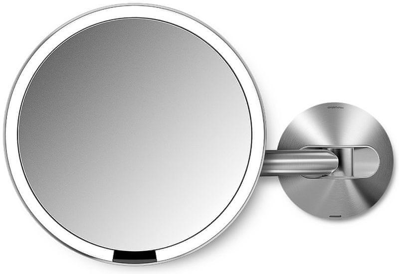Simplehuman Senzorické kosmetické zrcátko na zeď s Tru-lux LED osvětlením, 5x zvětšení