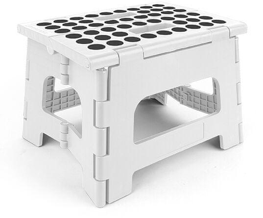 Kikkerland Skládací stolička Rhino II bílá