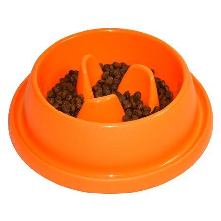 Argi posoda za preprečevanje prehitrega hranjenja, oranžna