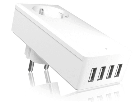 IcyBox hišni polnilnik za pametne telefone/tablice IB-CH404 4x USB