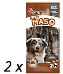 Akinu gryzak dla psa Suszone żwacze wołowe 2 x 500 g