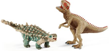 Schleich Giganotosaurus és Saichania Játékfigurák