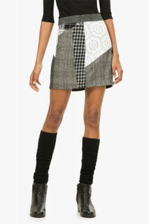Desigual dámská krátká sukně 42 sivá