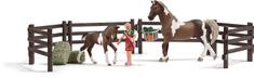 Schleich Set kŕmenia koní s príslušenstvom 21049