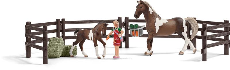 Schleich Set krmení koní s příslušenstvím 21049
