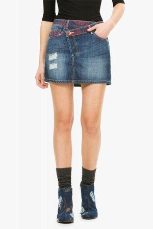 Desigual dámská jeansová sukně 38 modrá