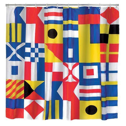 Kikkerland Sprchový závěs Námořní vlajky