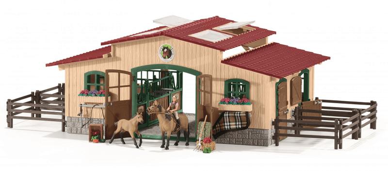 Schleich Stáj s koňmi a příslušenstvím 42195