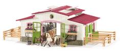Schleich Stajňa s koňmi a príslušenstvom v pastelových farbách 42344