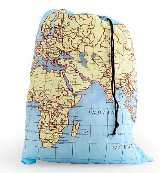 Kikkerland Skládací cestovní taška na prádlo World Map
