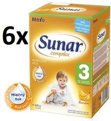 Sunar Complex 3 banán - 6 x 600g