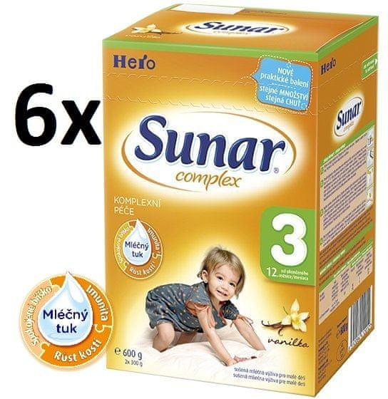 Sunar Complex 3 vanilka - 6 x 600g