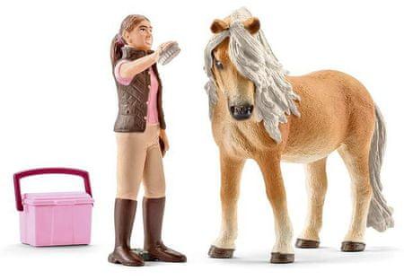 Schleich Kobyla koňa Islandského s ošetrovateľkou
