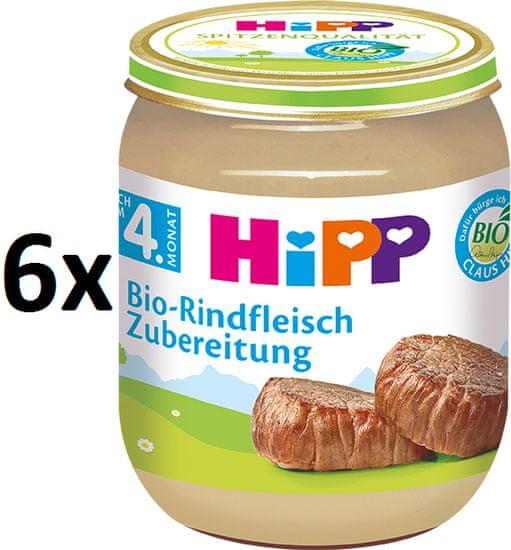 HiPP BIO Hovězí maso - 6 x 125g