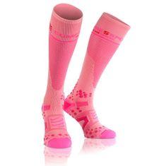 Compressport nogavice Full Socks V2.1, 3L, roza
